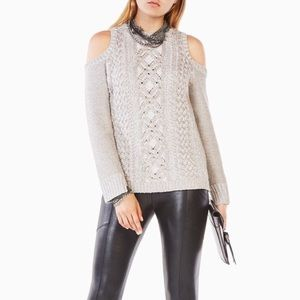 BCBGMaxAzria Cold  Shoulder Sweater